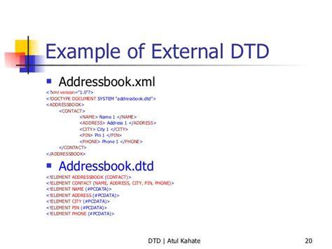Tutorial Xml Y Dtd | 2 dtd validating xml documents