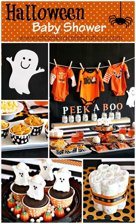 halloween themes baby shower halloween baby shower a to zebra celebrations