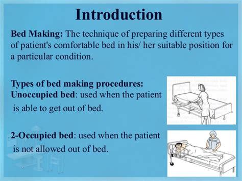bed making fundamental of nursing 3 bed making
