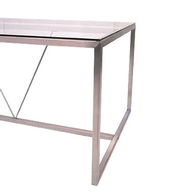 Stainless Steel Dining Table Frames Redhouse Dining Table Rectangular Stainless Steel Glass Box Frame