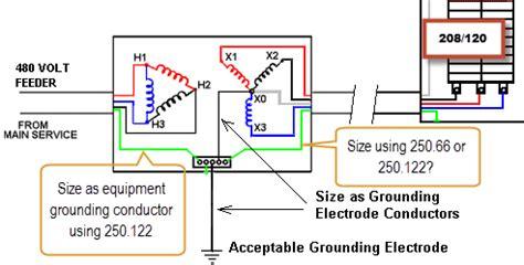 transformer grounding diagram transformer grounding separate derived system