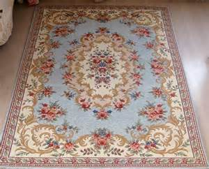 Outlet Area Rugs French Country Victorian Traditional Classic Floral Blue