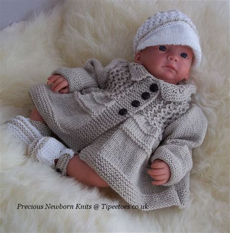 knitted for newborns baby knitting pattern boys or reborn to knit jacket