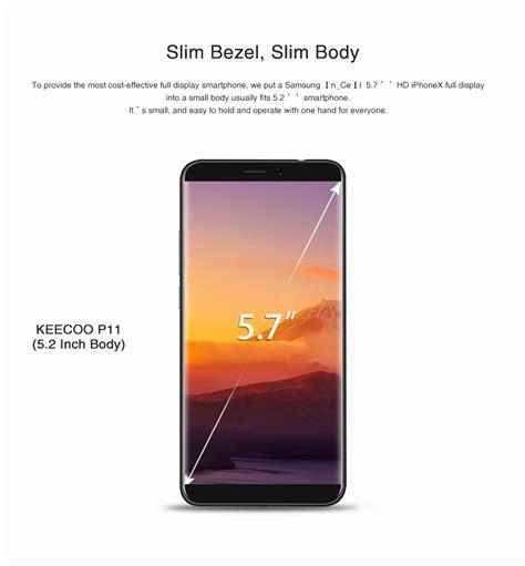Smartphone 7 Inch keecoo p11 5 7 inch 2gb 16gb smartphone black