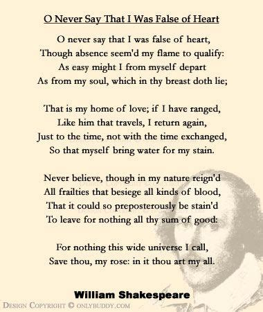 best environment poems poems poets poetry resources o never say that i was false of heart by william