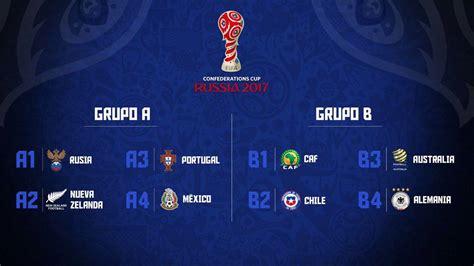 Calendario 2017 Futbol Calendario Completo De La Copa Confederaciones 2017 As Chile