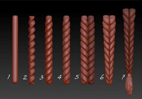 zbrush easy tutorial www zbrushcentral 3d pinterest zbrush braids and