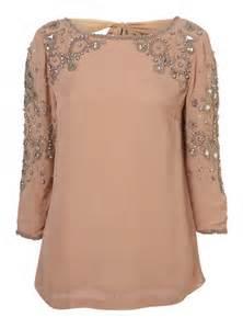 Topshop embellished v back blouse 163 70