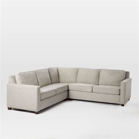 Henry 174 3 Piece L Shaped Sectional West Elm Henry Sectional Sofa