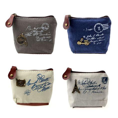 Tas Kanvas Mini dompet koin mini bahan kanvas blue jakartanotebook