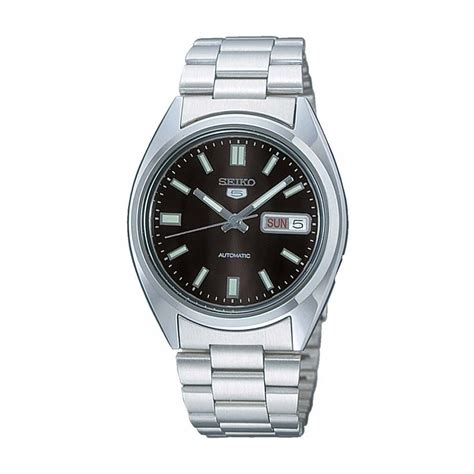 seiko s seiko 5 day date black automatic watches from francis gaye jewellers uk