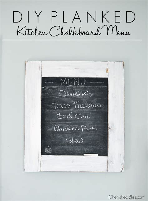 Menu Chalkboard For Kitchen by How To Make A Planked Kitchen Chalkboard Menu Cherished