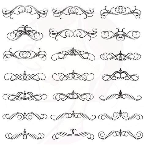 vintage design elements font digital clipart flourish clip art swirls vintage design