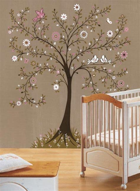 nursery wall mural tree themed nursery the wall