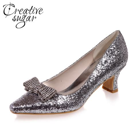 comfortable low heels creativesugar comfortable low heel 3d metallic silver gold