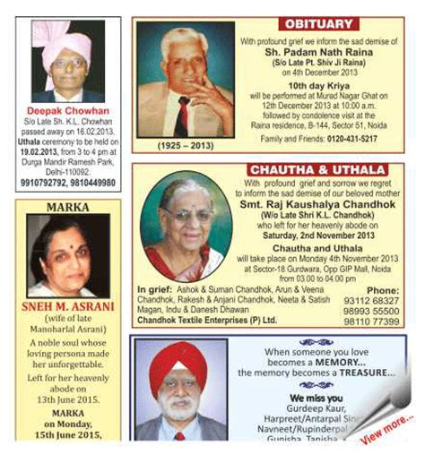 oaoa sections death notices publishing obituaries and remembrance ads in the times of
