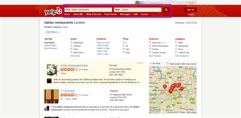 Yelp Search Starting To Highlight Top Directory In Local Search
