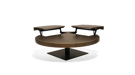 table basse ouvrable table basse ronde 2 c 244 t 233 s ouvrables ltb roche bobois