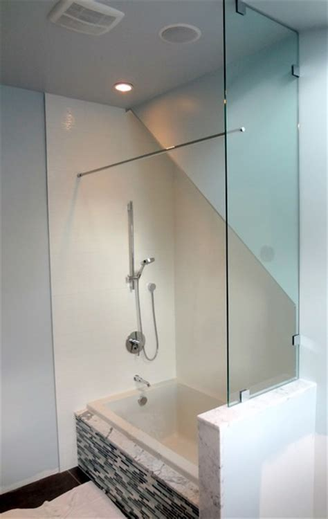 bathtub glass panels tub end wall glass panel showers greater vancouver