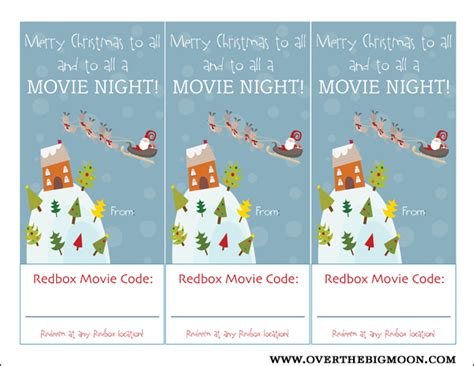 redbox printable gift certificates redbox neighbor gift idea over the big moon