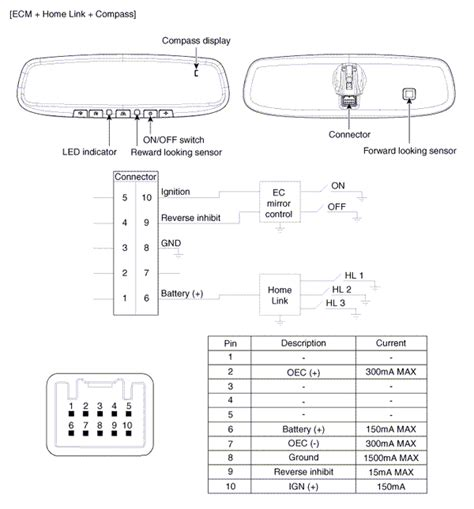 kia sorento rear view mirror wiring diagram repair