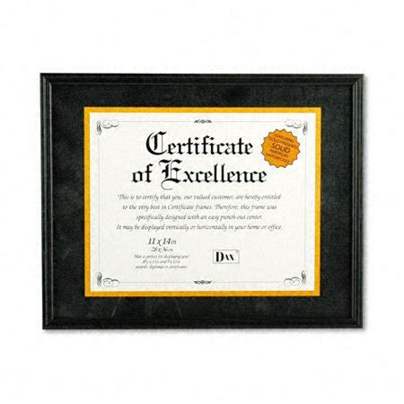 10 Inches By 14 Inches Mat Frame by Dax Hardwood Document Certificate Frame With Mat 11 X 14