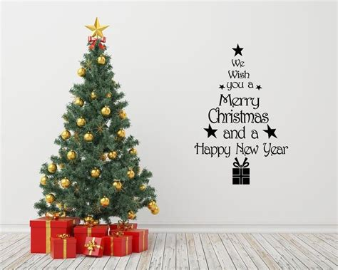 christmas tree wall art quote wall sticker modern decal