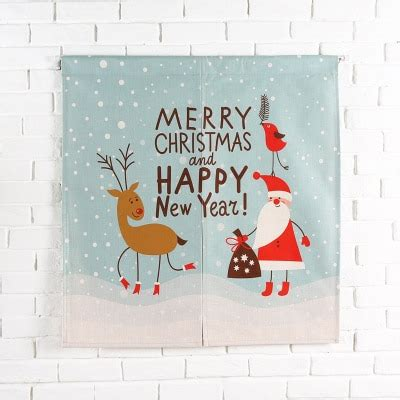 taiwan japan style chinese merry christmas door curtain wall hanging living room kitchen home