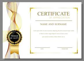 certificate of appreciation design vector free download