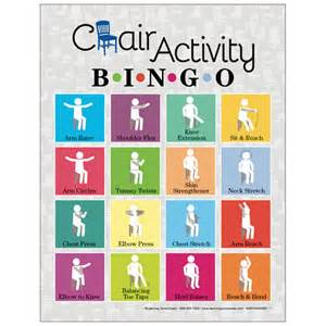 free printable games for older adults chair activity bingo
