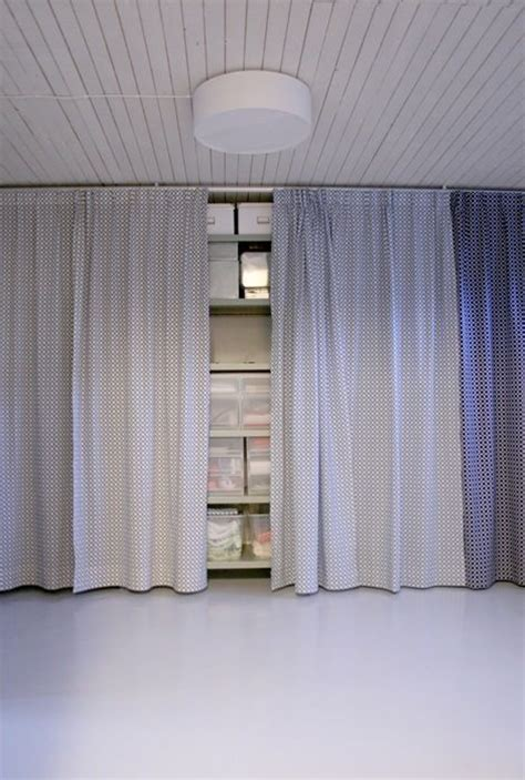 garage curtains love this storage solution just hide it with a curtain