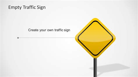 Traffic Signs Template For Powerpoint Slidemodel Editable Road Sign Template
