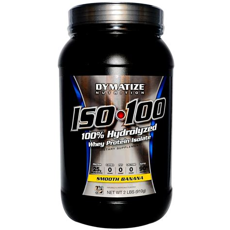 Dymatize Iso 100 Ecer 2lbs 2 Lbs Trial Size Hydrolized Whey Protein dymatize nutrition iso 100 100 hydrolyzed whey protein isolate smooth banana 2 lbs 910 g