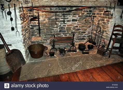 17th Century Fireplaces by Guilford Connecticut Large Hearth Fireplace With 17th