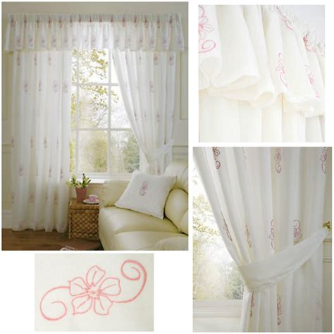 pink and cream curtains harmony luxurious voile lined curtains pencil pleat