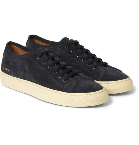 by common projects sneakers common projects tournament suede sneakers in blue for