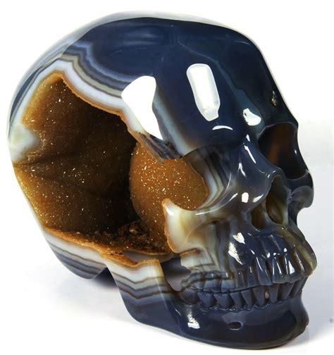 vi raptor ebaydesc agate carved geode skull from rikoo on ebay wow