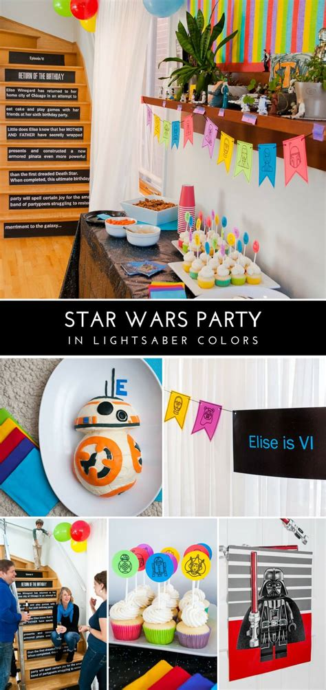 color wars ideas wars birthday in lightsaber colors