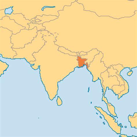 dhaka on world map bangladesh asia map