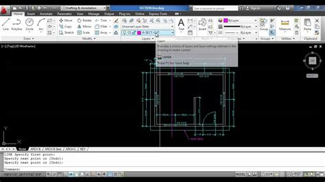 autocad section how to create a section line with autocad youtube