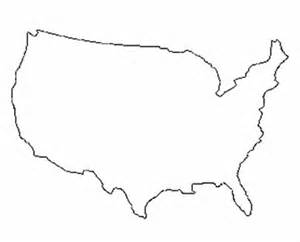 Usa Outline With States by Usa In Needlepoint Plaid
