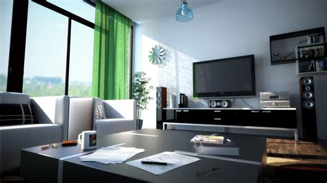 Modern Black And White Living Room by Exclusive Design Modern Black And White Living Room Green