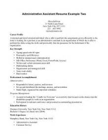 Administrative Assistant Career Objective Auto Mechanic Job Description Resume