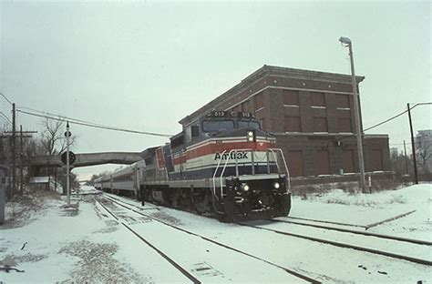 amtrak bloomington s t a t i o n june 1980