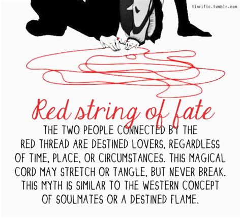 red string of fate tattoo string of fate quotes quotesgram