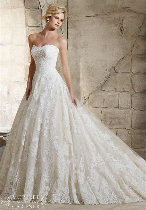 Wedding Dresses Style 2787 by 2787 Bridal Gowns Dresses Delicate Beading Onto The