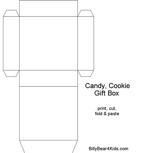 free cookie box template printables pinterest box