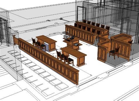 mock courtroom floor plan concept drawings arnold contract