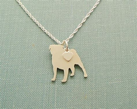 sterling silver pug charm 925 sterling silver pug charm necklace layering silhouette jewelry getpuggedup