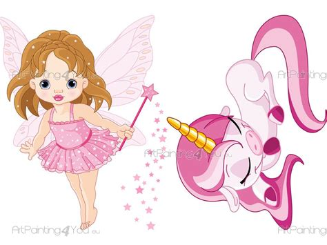 imagenes unicornios infantiles vinilos infantiles hadas unicornio kit 1503es